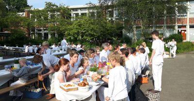 White Dinner am Gymnasium Bondenwald
