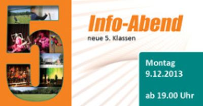 Informationsabend für die neuen 5. Klassen